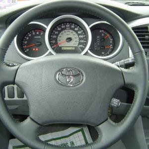 Black double cab sport interior