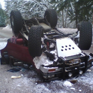 1/2/08 Rolled my 4runner, very sad day...