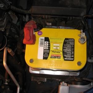 Billet Optima Battery Tray