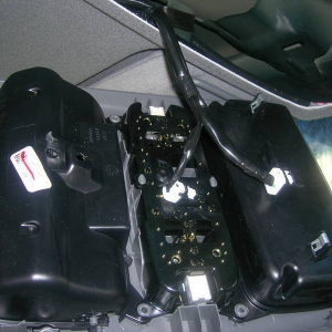 Overhead console removed