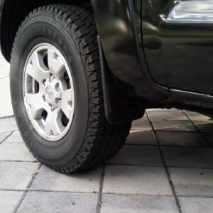 New Firestone AT's and aftermarket mudflap