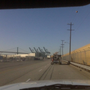 Playing follow the leader - Port of Los Angeles (and getting paid for it)