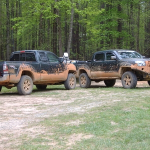 luni and hodgey....mud bath recipients!!