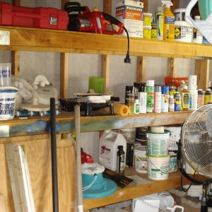 Shelf full of Junk