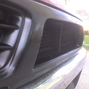 side shot of completed grill