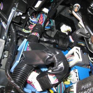 Drivers Side Kick Panel Removed