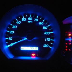 Blue LED's with blue gauges