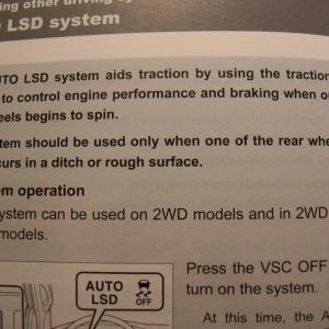 Owner's Manuel LSD-VSC