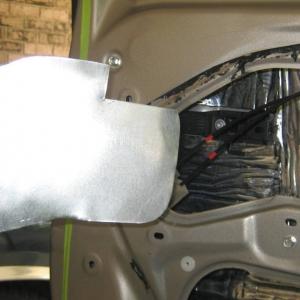door panel insert for deadener