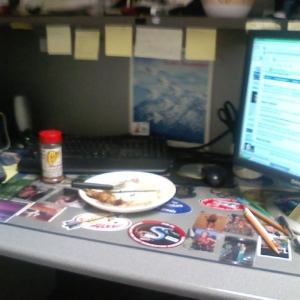 The 125th Munitions Maintenance Training Manager's desk. I just finish