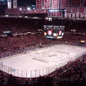 This was a pic inside Joe Louis Arena before saturdays game. My beloved pen