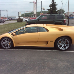 Took this pic of a Lambo at a Applebees in Erie, PA. An 80 year old couple
