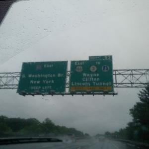 Road trip to Clifton, NJ. Damn rain!