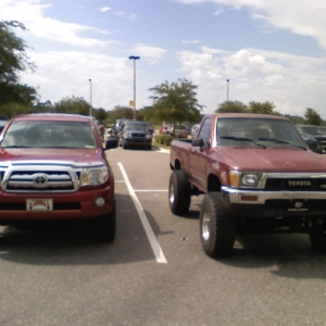 I always like to park next to other Tacomas. This is at the Winn-Dixie.
