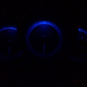 Mazdas cool thing...electroluminescent gauges.