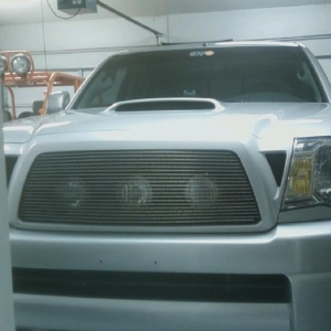 Hid's behind grill