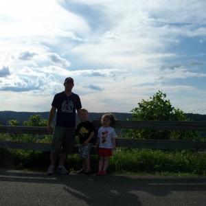 The kids and I @ Brady's Bend