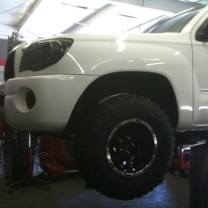 Truck on the lift