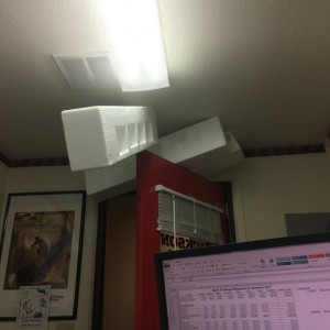 I come into my office, and what the shit is this!