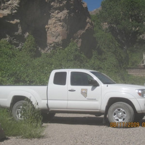 Nevada Division of Parks and Recs Ranger outside of Caliente, NV