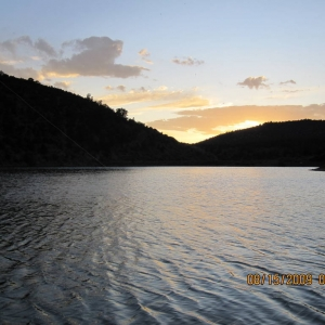 Sunset over Cave Lake, NV
