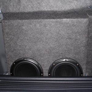 "Twin 8"" JL Audio Subs"