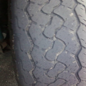drivers side tire