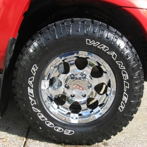 Moto Metal and Goodyear Wrangler DuraTrac