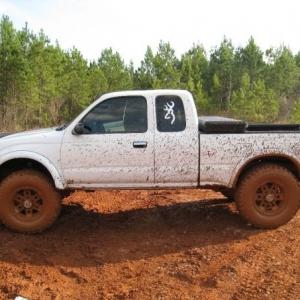 A 00' yota wit a lil mud on it