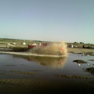 Was dared to drive through this puddle at wrok