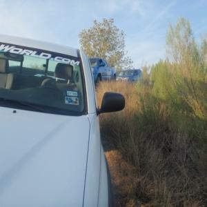 side shot of the trucks