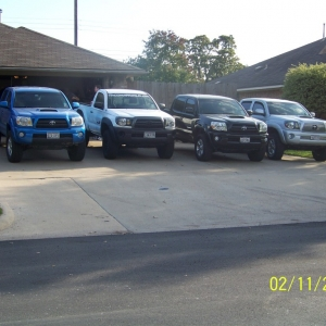 A pic of a few of the trucks at the Bryan tx meetup