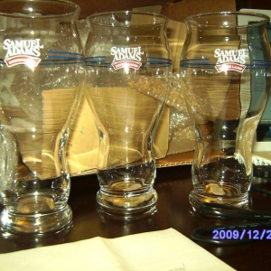 Samuel Adams Beer Glasses