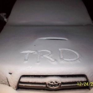 White ChristmasTRD Edition Tacoma