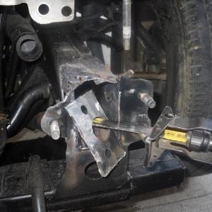 Damaged frame ear/ bumper mount