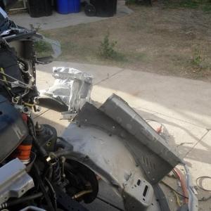 Drill out spot welds