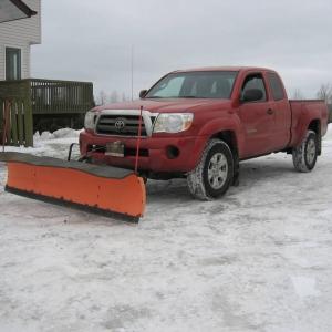 Plow on Truck