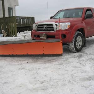 Plow on truck 2