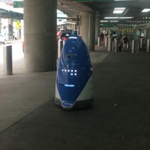 Robot security guard at LaGuardia. I don't like the future