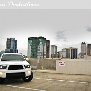 Hangin out on top of a parking garage in downtown Orlando, FL