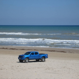 My truck at the beach 3