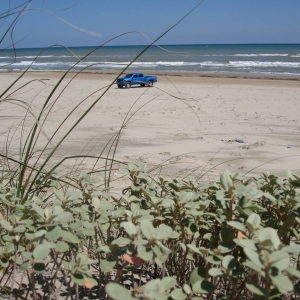 my truck at the Beach 5