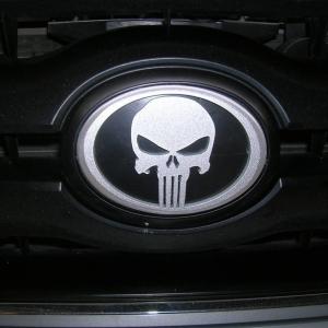 Punisher emblem installed