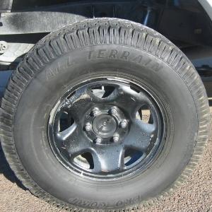 "Black out oem, 16"" wheel"