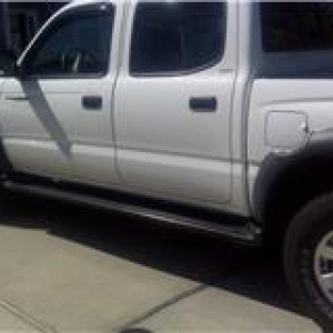 Used OEM Running Boards for 2001 - 2004 4DR Tacoma DCab