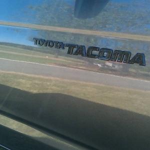 Blacked out Tacoma emblem