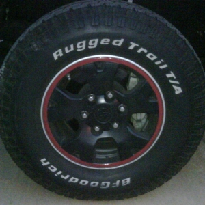 Painted stock TRD wheel
