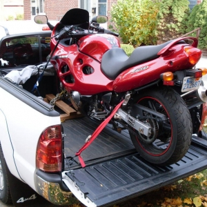 Loading a motorcycle