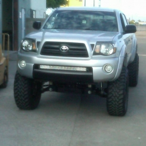 Rigid Industries Light bar in bumper