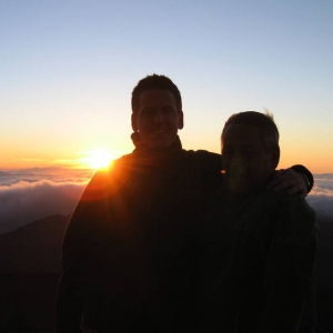 sunrise on top of Mt. Haleakala w/ pops
